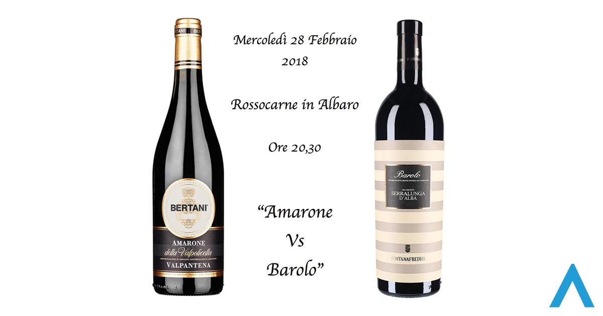 Amarone vs Barolo da RossoCarne! 🗓