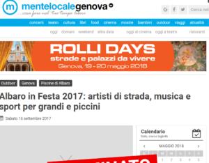 Albaro in Festa 2017 artisti di strada musica e sport per grandi e piccini Genova
