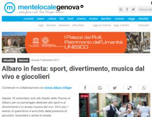 Albaro in festa sport divertimento musica dal vivo e giocolieri Genova