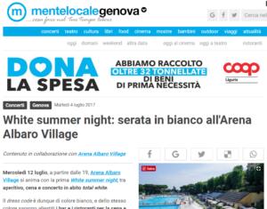 White summer night serata in bianco all Arena Albaro Village Genova