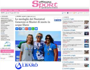 Le medaglie dei Nuotatori Genovesi ai Master di nuoto in acque libere Settimanasport com