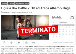 Liguria Box Battle 2018 ad Arena Albaro Village Genova