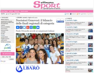 Nuotatori Genovesi il bilancio delle finali regionali di categoria Settimanasport com