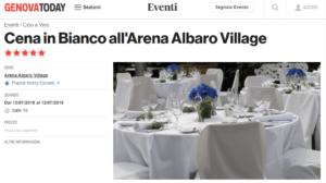 White Summer Night cena in bianco ad Albaro
