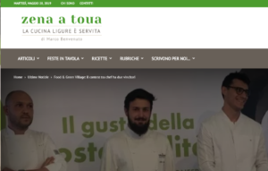 Food Green Village il contest tra chef ha due vincitori Zena a toua