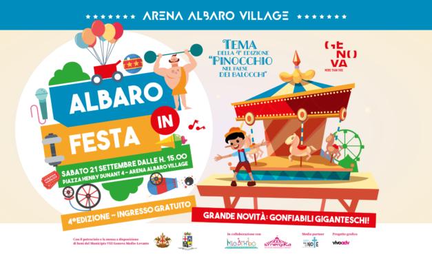 """TORNA """"ALBARO IN FESTA"""": SABATO 21 SETTEMBRE ALL'ARENA DI ALBARO"""
